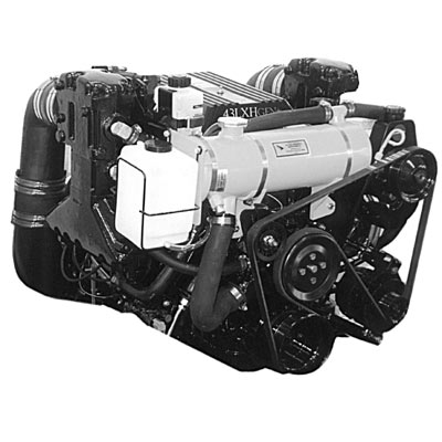 Volvo Penta Exploded view / schematic Fresh-water Cooling and Hot Water Outlet